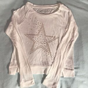 M Aeropostale Cotton Cropped Long-sleeve NEW